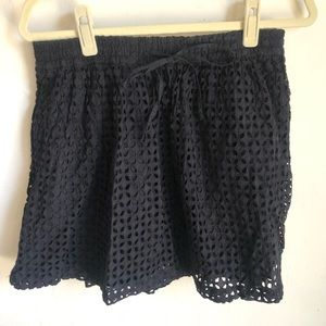 Madewell Eyelet Drawstring Mini Skirt